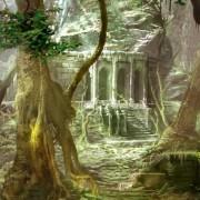 Telón - Forillo Ruinas en la selva
