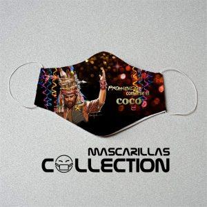 Mascarilla carnaval coco